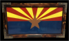 Arizona Flag Blue/Red Line and Military