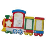 Multi Color Train Photo Frame  Baby Shower Gifts