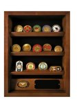 Shadowbox with coin holder Blue/Red Line and Military