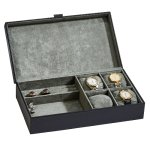 Black Leather Jewelry Box  Boss Gift Awards