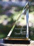 Spectacular Slant Color Accented Acrylic Award Employee Awards