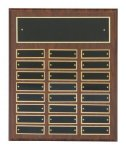 Cherry Finish Perpetual Plaques Employee Awards