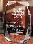 Square Multi-Faceted Clear Acrylic Award Sales Awards