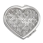 Heart Compact with Crystals Wedding