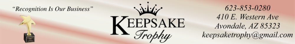Keepsake Trophy & Engraving - PPE, Face Masks,